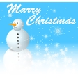 Marry Christmas with snowman vector image