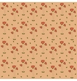 Poppy Flowers Pattern Seamless Pattern on Coral vector image