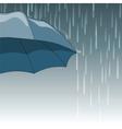 Rain drops and Umbrella vector image