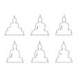 Set of Buddha Path on the white background vector image