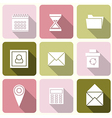 web icons in Flat Design for Web and Mobile vector image