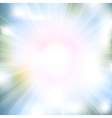 Glow rays from flare explosion vector image