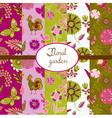 summer vintage pattern vector image vector image