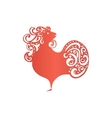 Chinese New Year 2017 rooster design Cock - vector image