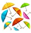Falling Color Umbrellas Background vector image