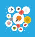flat icons reward american football volleyball vector image