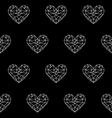 heart patterno2 vector image