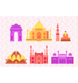 Indian buildings vector image