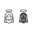 jesus line and glyph icon easter and holiday vector image