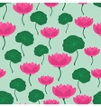 Seamless tropical pattern with stylized lotus vector image
