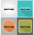 railway transport flat icons 02 vector image vector image