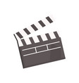 black open movie clapperboard vector image