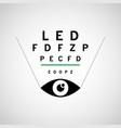 optometry logo icon design vector image
