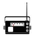 radio silhouette vector image