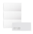 collection of various blank white paper on white vector image
