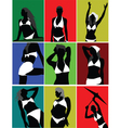 silhouette poses vector image vector image