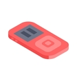 Isometric music player 3d icon for web and vector image