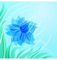 EPS10 azure flower background vector image