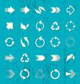Arrow sign icons retro collection vector image