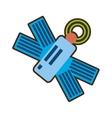 cartoon satellite antenna communication global vector image