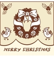 Christmas wreath doodles vector image
