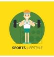 Gym bodybuilding concept design flat vector image