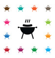 isolated brazier icon bbq element can be vector image