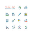 medical equipment - line icons set vector image