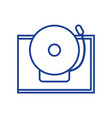 silhouette school bell alert object design vector image