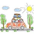 Family Car Drawing vector image