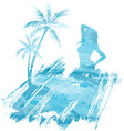 summer watercolored background vector image vector image