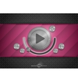Abstract Technology App Icon With Music Button vector image