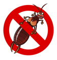 anti earwig sign vector image vector image