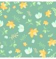 Seamless spring flower pattern vector image