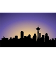 silhouette of Seattle city USA vector image