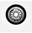 Grunge motorcycle wheel vector image