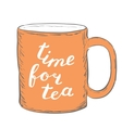 Time for tea Brush hand lettering vector image