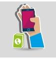 app mobile design vector image