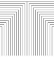 geometry black and white stripes grid pattern vector image
