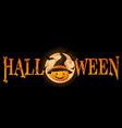 Halloween Pumpkin banner vector image