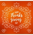 Happy Thanksgiving Day card Autumn blurred vector image