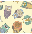 OwlsRotatePattern vector image