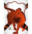 soccer summer background vector image