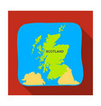 territory of scotland icon in flat style isolated vector image