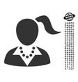 woman icon with work bonus vector image