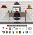 workplace interior concept vector image