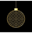 gold christmas ball vector image