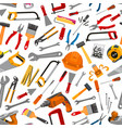 construction working tool seamless pattern vector image vector image