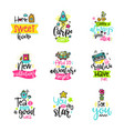 calligraphy with decor elements vector image