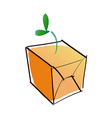 A box and sprout vector image